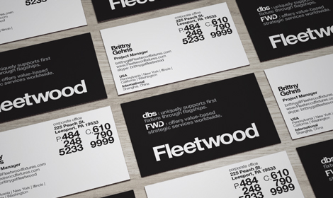Fleetwood Fixtures Business Cards Design