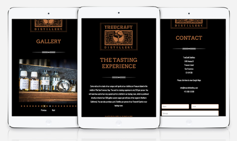 Treecraft Distillery Responsive Website